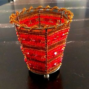 PartyLite Moroccan Spice Beaded Votive Holder